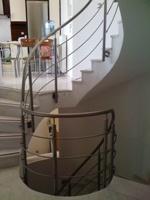Inox κυκλική σκάλα